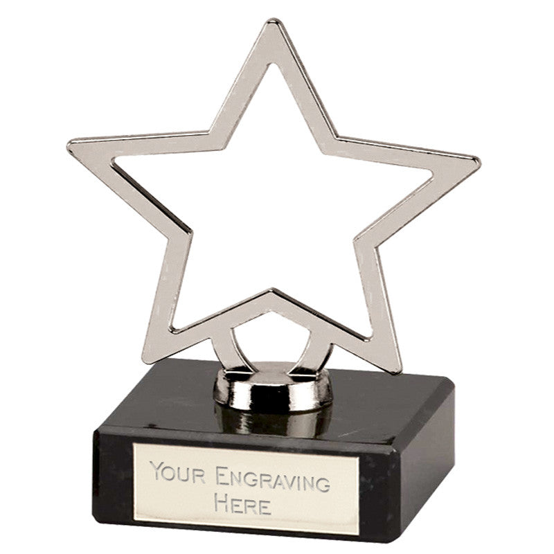 Silver Galaxy Metal Stars - Bracknell Engraving & Trophy Services