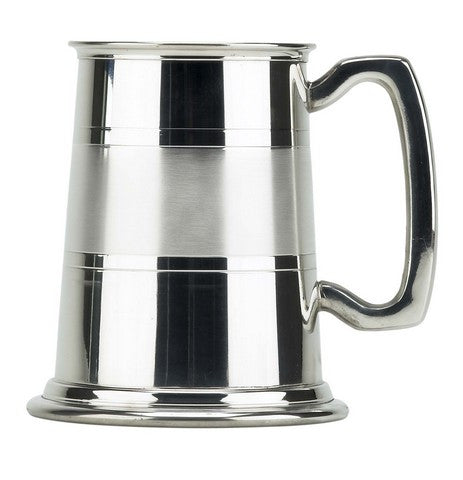 Satin Band Pewter Pint Tankard - Bracknell Engraving & Trophy Services