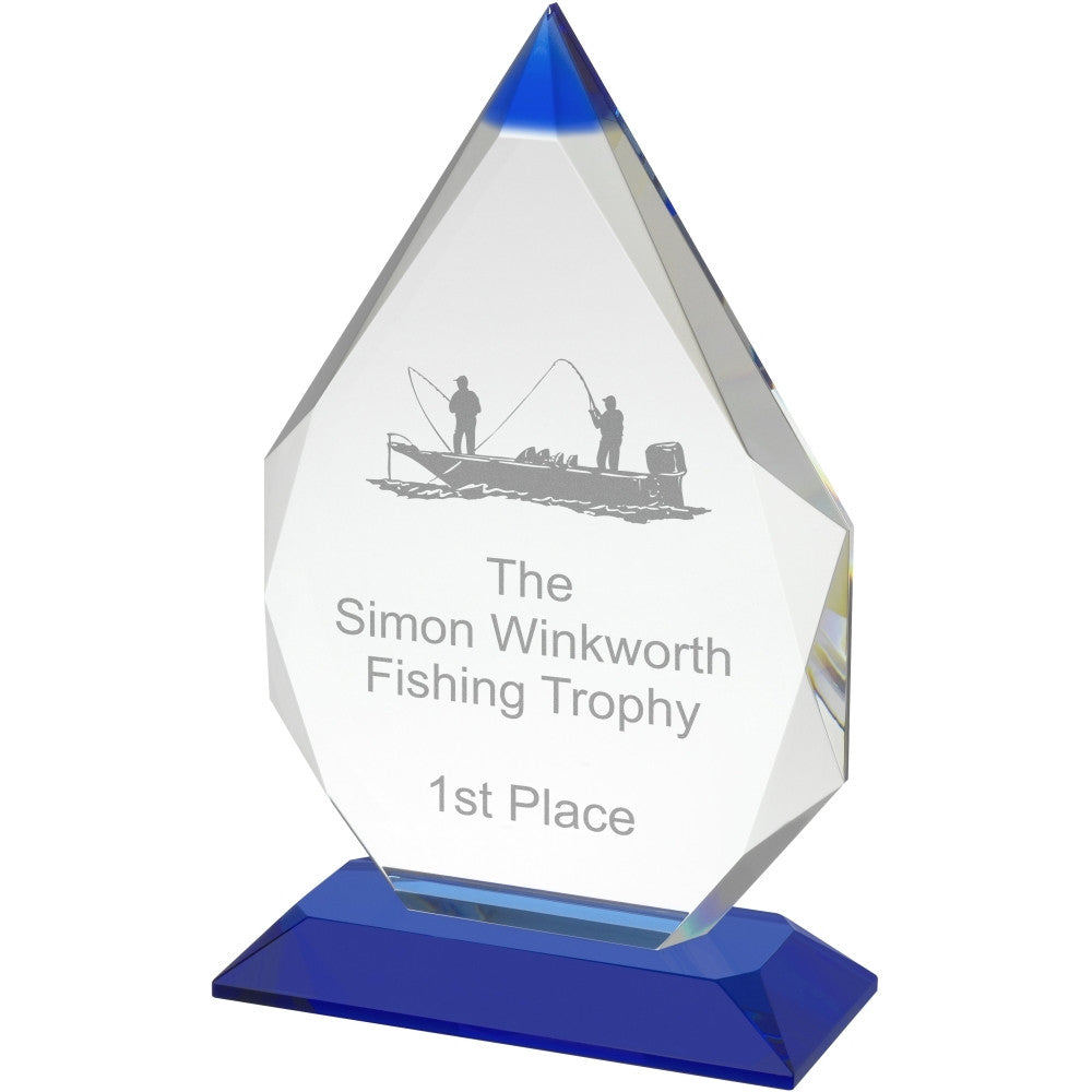 Blue and Clear Diamond Award - Bracknell Engraving & Trophy Services