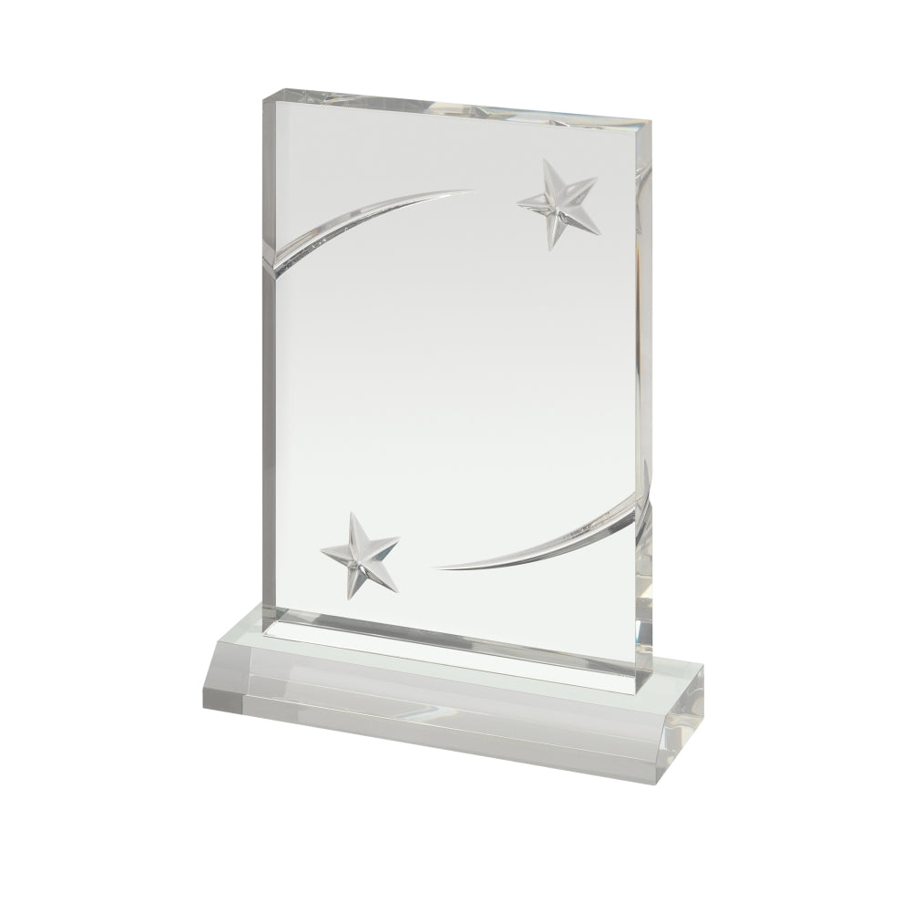 Base Embossed Stars Acrylic Award - Bracknell Engraving & Trophy Services