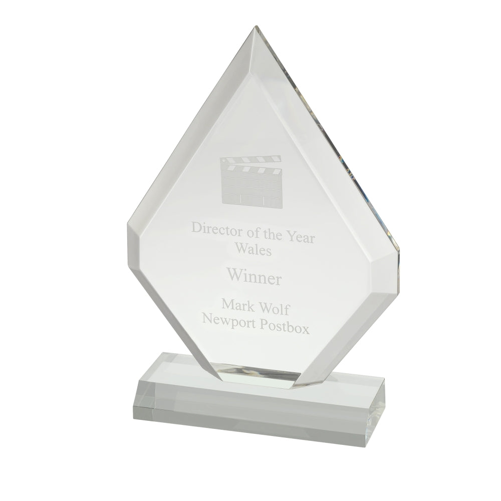 Diamond Acrylic Award - Bracknell Engraving & Trophy Services