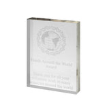 Freestanding Clear Acrylic Award - Bracknell Engraving & Trophy Services