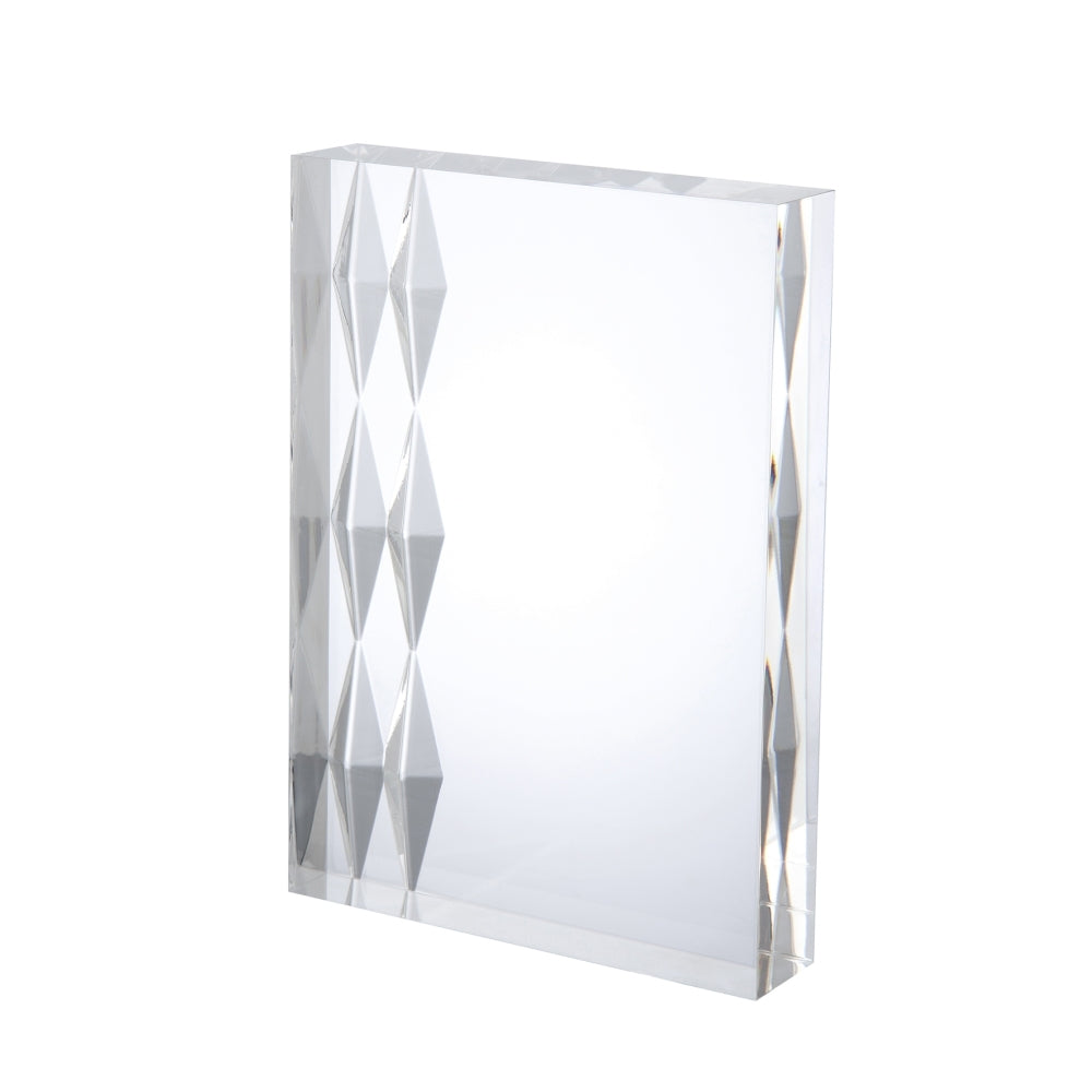 Freestanding Clear Acrylic Diamond Award - Bracknell Engraving & Trophy Services