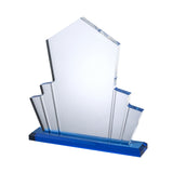 Acrylic Award with Blue Base - Bracknell Engraving & Trophy Services