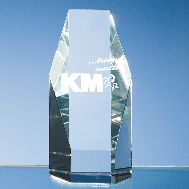 Optical Crystal Hexagon Award - Bracknell Engraving & Trophy Services