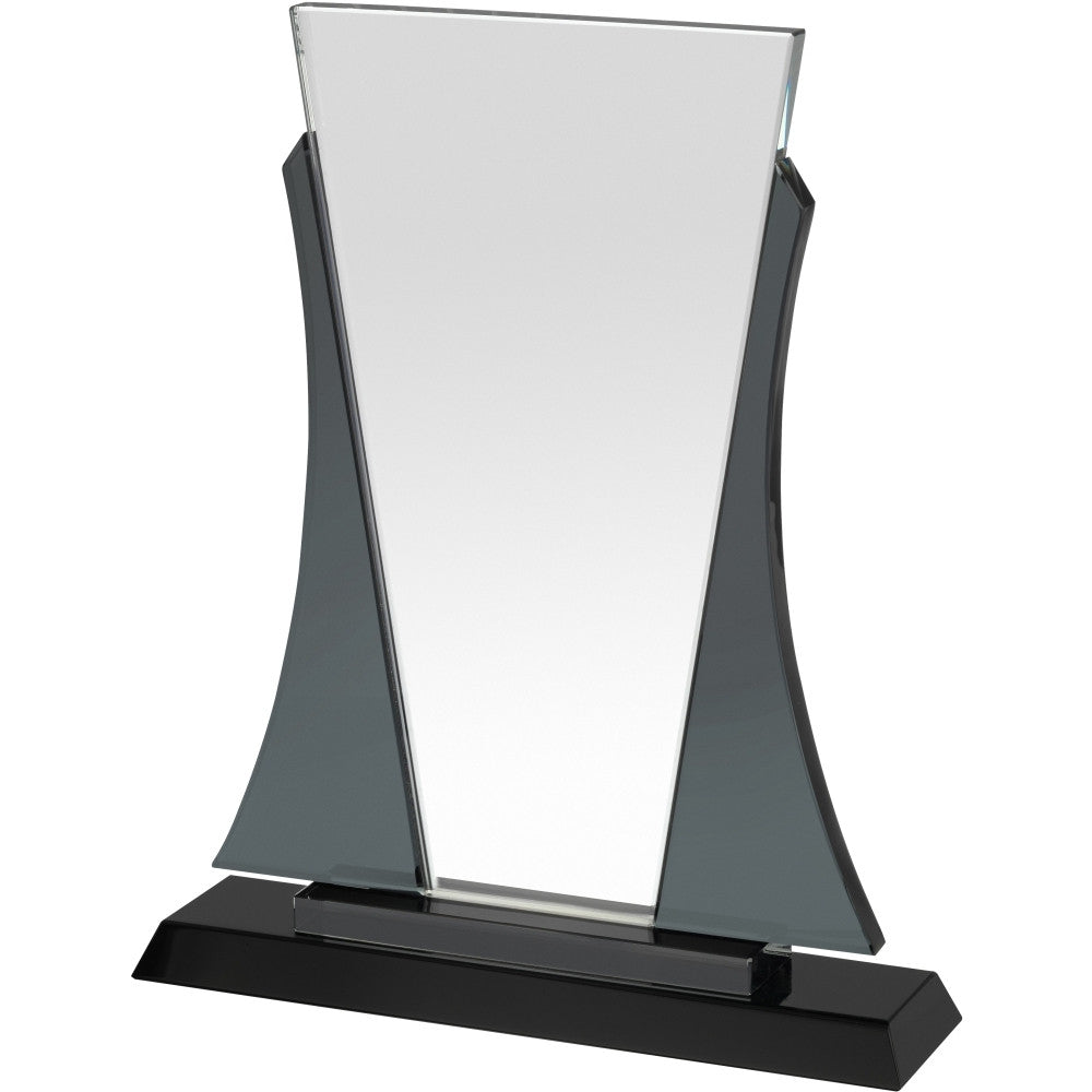 GLC039 Clear & Black Crystal Award - Bracknell Engraving & Trophy Services
