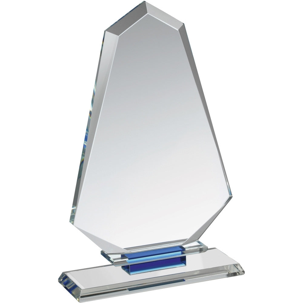Clear & Blue Crystal Award