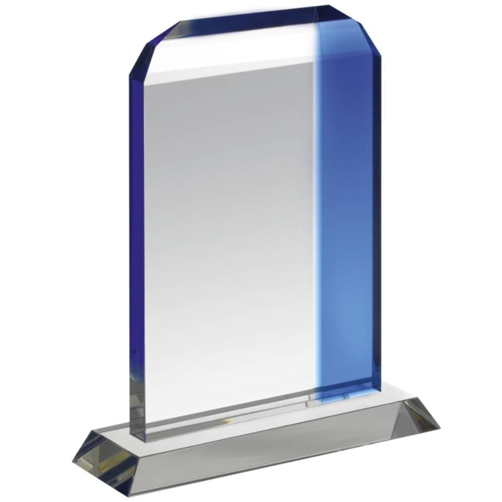 HC023 Clear & Blue Crystal Stripe Award - Bracknell Engraving & Trophy Services