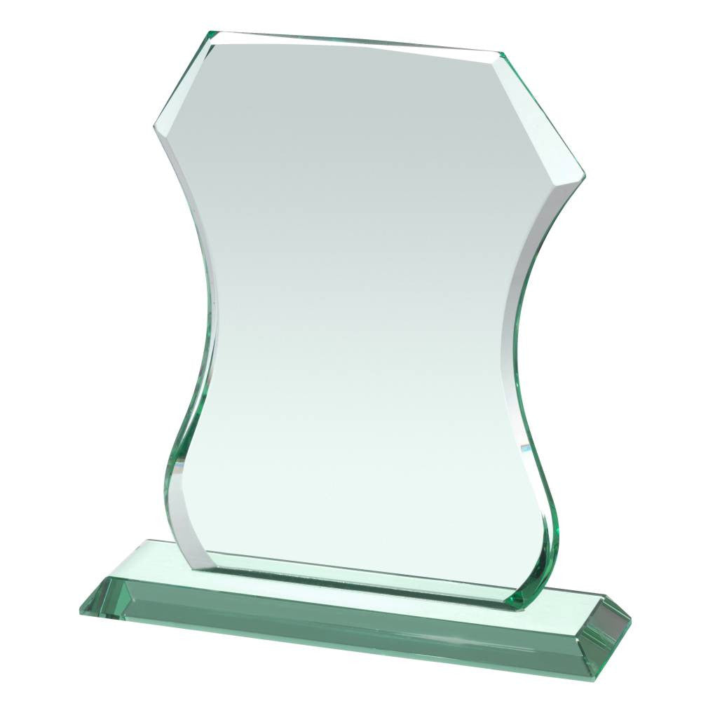 HC040 Shield Jade Glass Award - Bracknell Engraving & Trophy Services