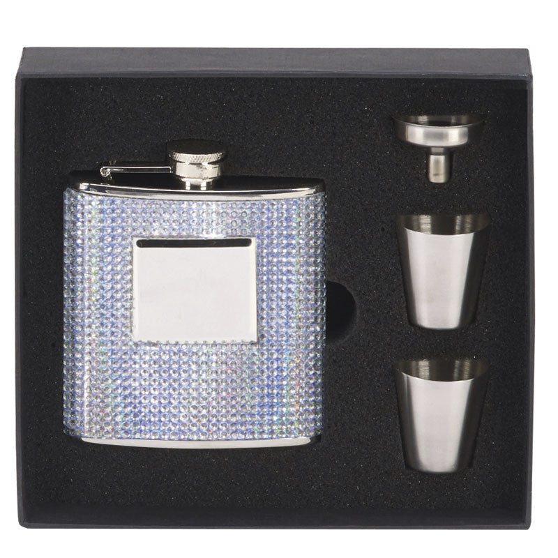Diamond Hip Flask in Presentation Box