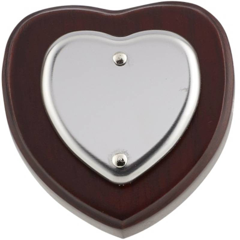 Mini Heart Shield - Bracknell Engraving & Trophy Services