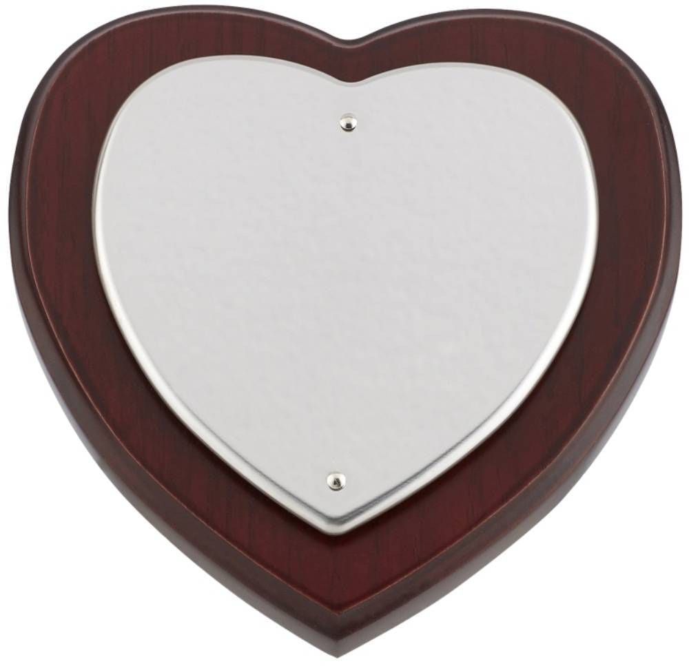 "5"" Heart Shield - Bracknell Engraving & Trophy Services"