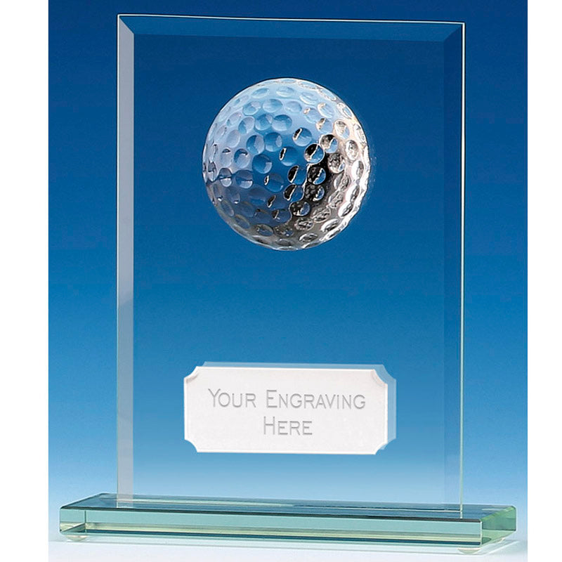 Golf Glass Plaque - Bracknell Engraving & Trophy Services