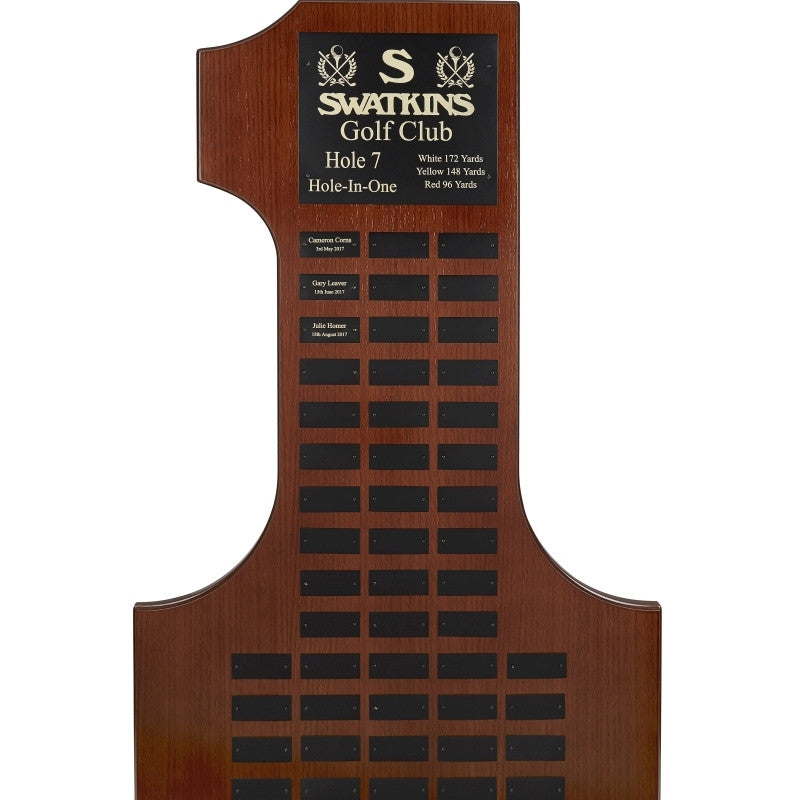 Large Hole in One Record Plaque - Bracknell Engraving & Trophy Services