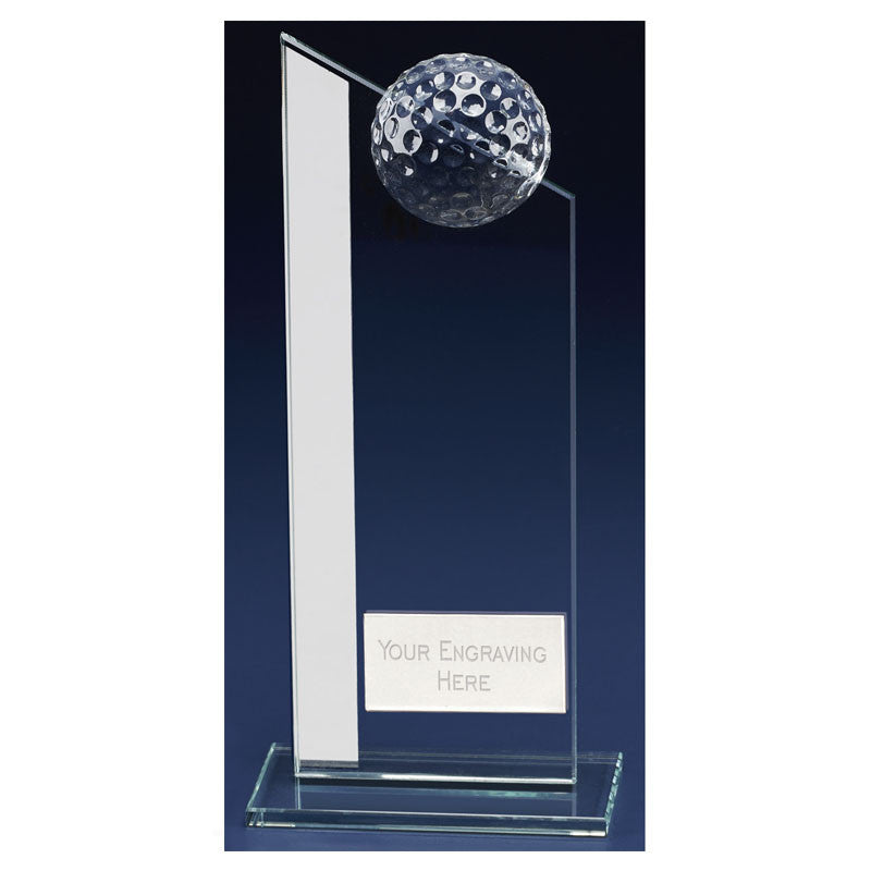 Colony Club Glass Golf Trophy - Bracknell Engraving & Trophy Services