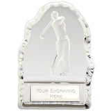 Echo Golfer Glass Trophy - Bracknell Engraving & Trophy Services