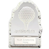 Echo Golf Ball Glass Golf Trophy - Bracknell Engraving & Trophy Services