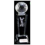 Unite Male Crystal Golf Trophy - Bracknell Engraving & Trophy Services