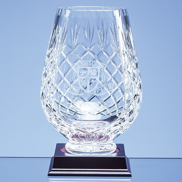 Lead Crystal Panelled Tulip Vase