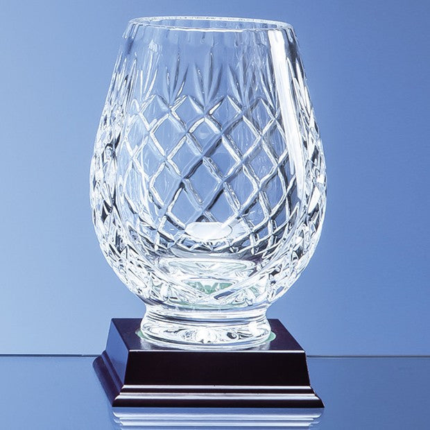 Lead Crystal Panelled Tulip Vase - Bracknell Engraving & Trophy Services