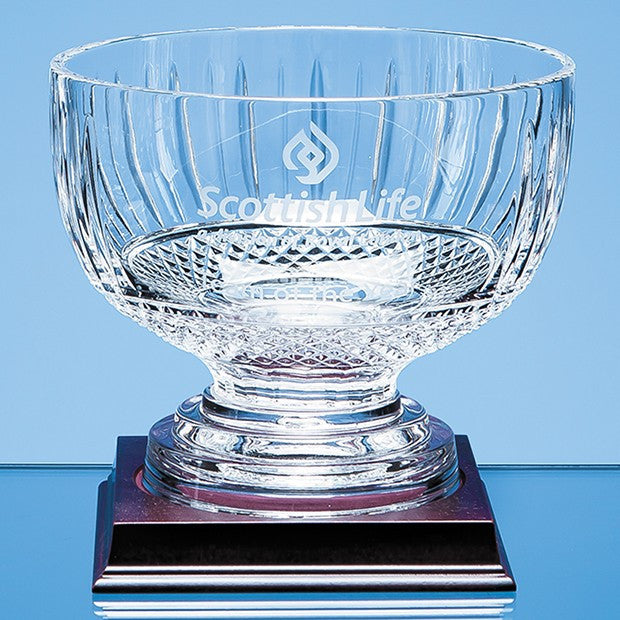 Lead Crystal Footed Presentation Comport - Bracknell Engraving & Trophy Services