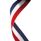 Red, White & Blue Medal Ribbon - Bracknell Engraving & Trophy Services