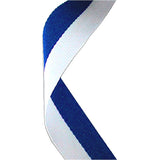 Blue & White Medal Ribbon - Bracknell Engraving & Trophy Services