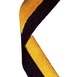 Black & Gold Medal Ribbon - Bracknell Engraving & Trophy Services