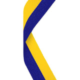 Blue & Yellow Medal Ribbon - Bracknell Engraving & Trophy Services