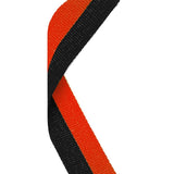 Black & Orange Medal Ribbon - Bracknell Engraving & Trophy Services