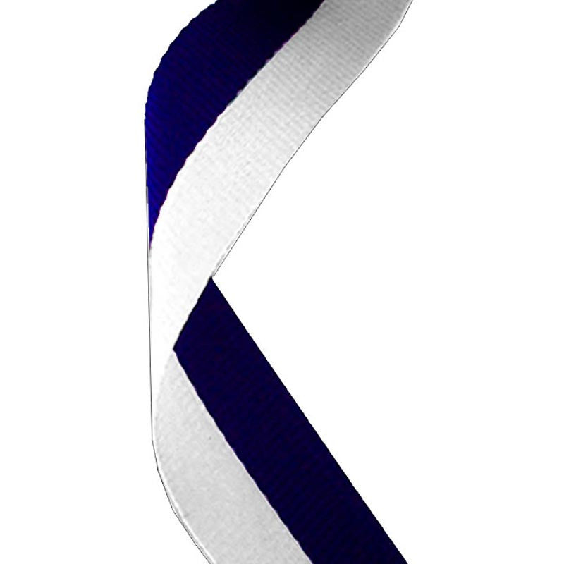 Navy & White Medal Ribbon - Bracknell Engraving & Trophy Services