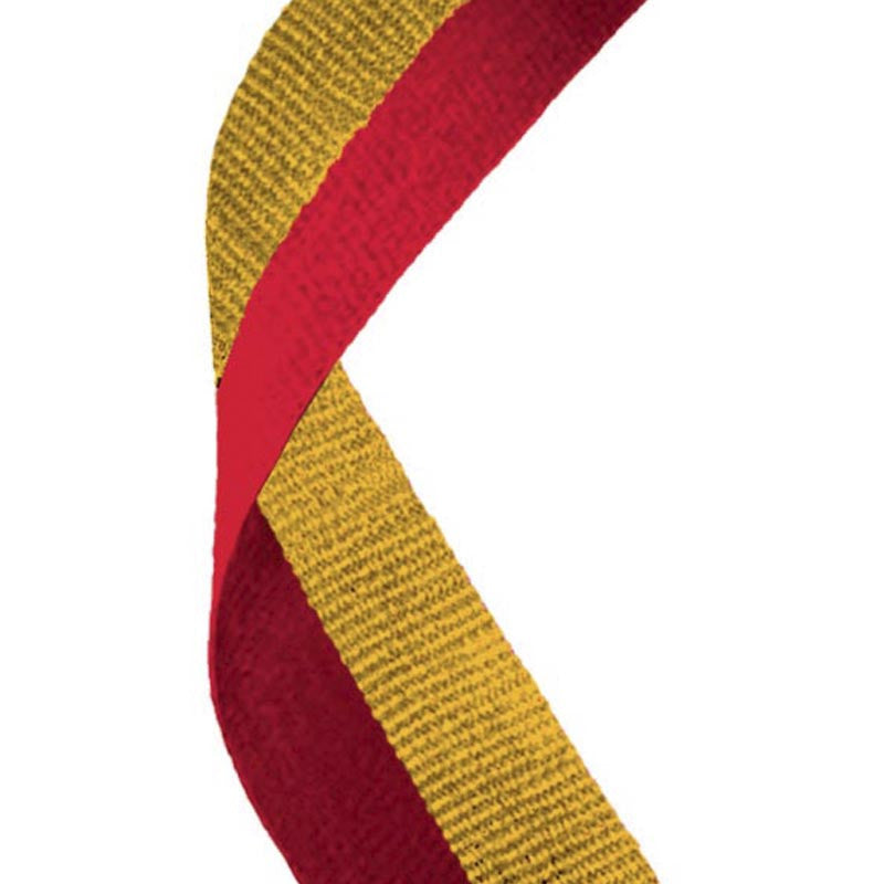 Red & Gold Medal Ribbon - Bracknell Engraving & Trophy Services