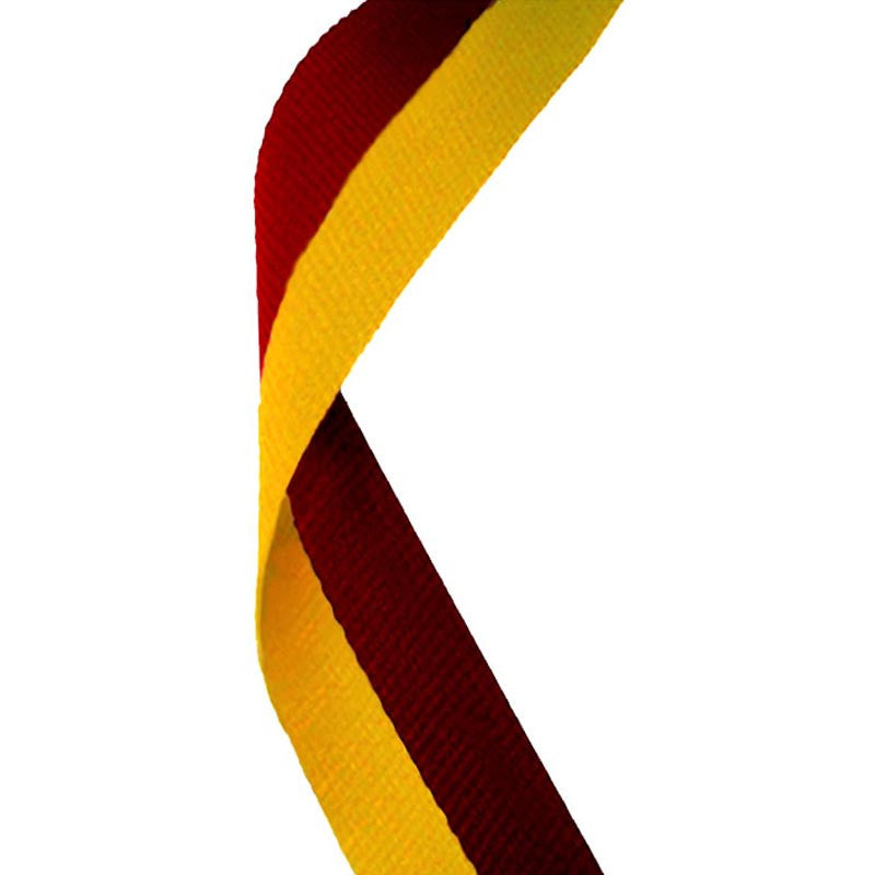 Maroon & Gold Medal Ribbon - Bracknell Engraving & Trophy Services