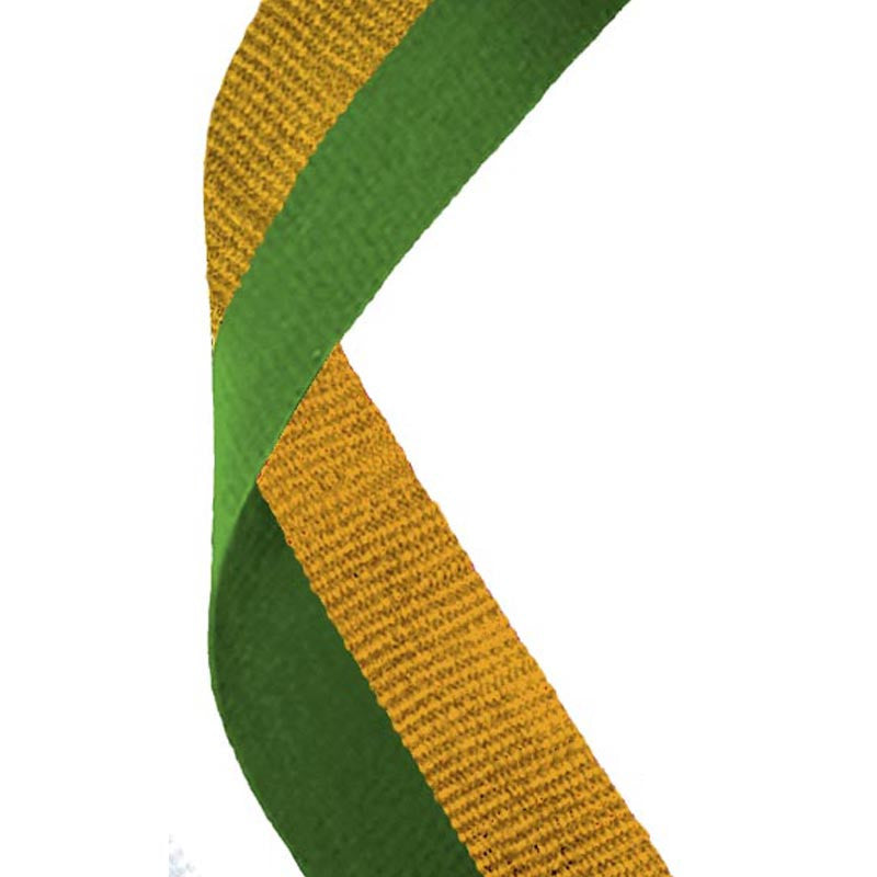 Green & Gold Ribbon - Bracknell Engraving & Trophy Services