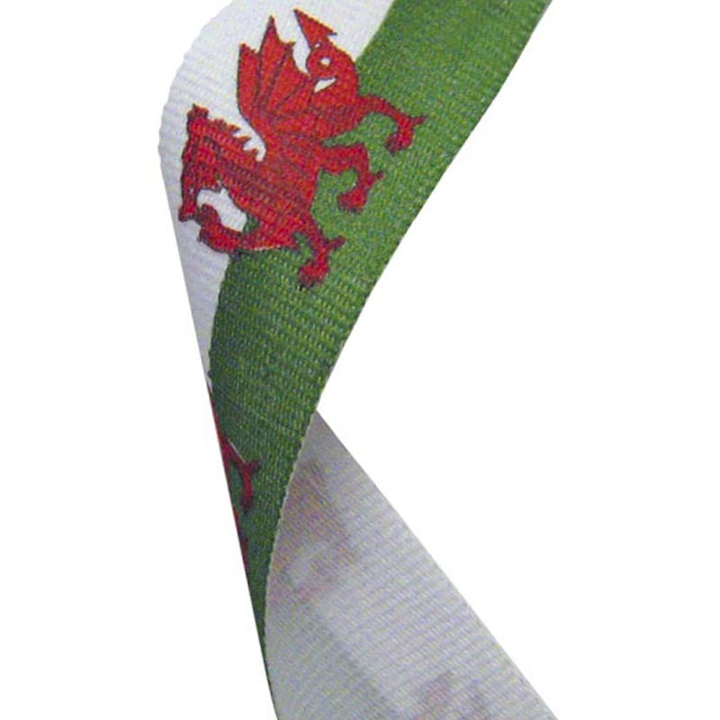 Wales Flag Medal Ribbon - Bracknell Engraving & Trophy Services
