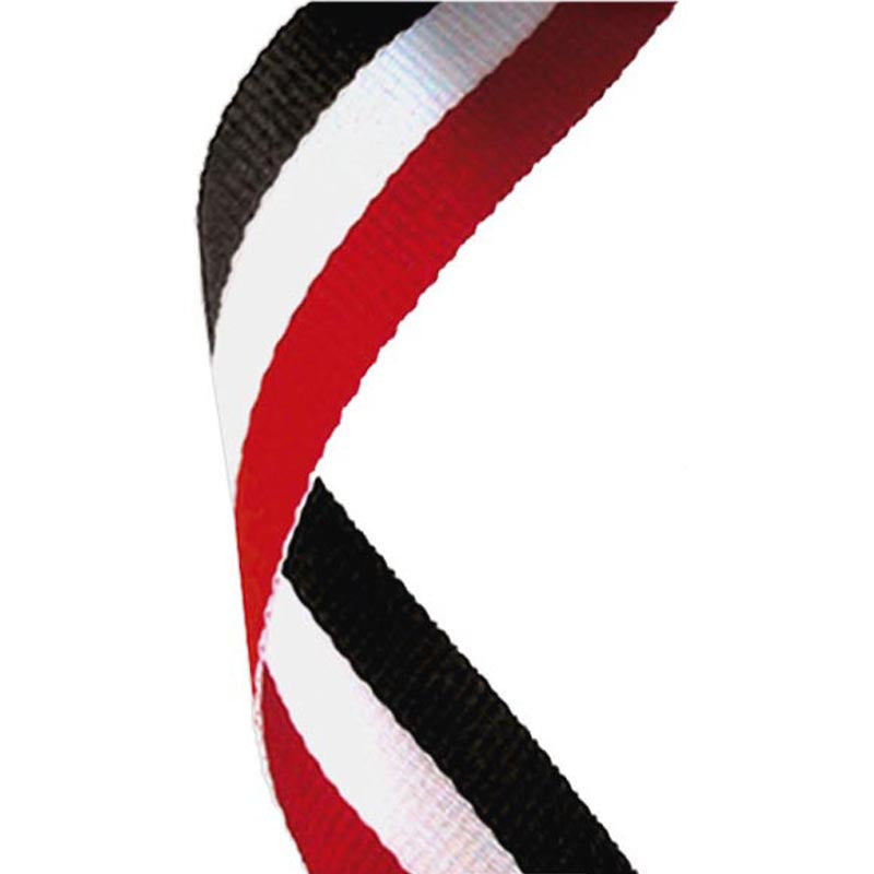 Red, White & Black Medal Ribbon