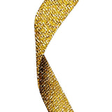 Gold Glitter Medal Ribbon - Bracknell Engraving & Trophy Services