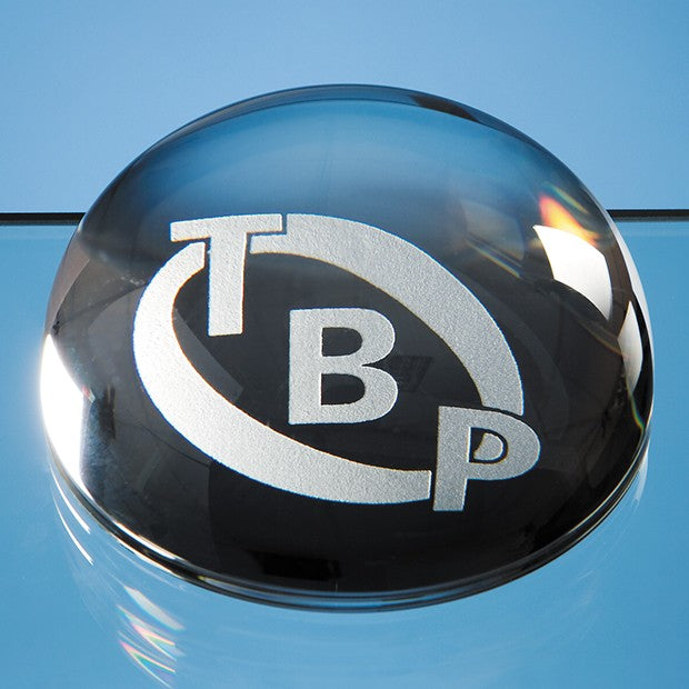 Domed Glass Paperweight - Bracknell Engraving & Trophy Services