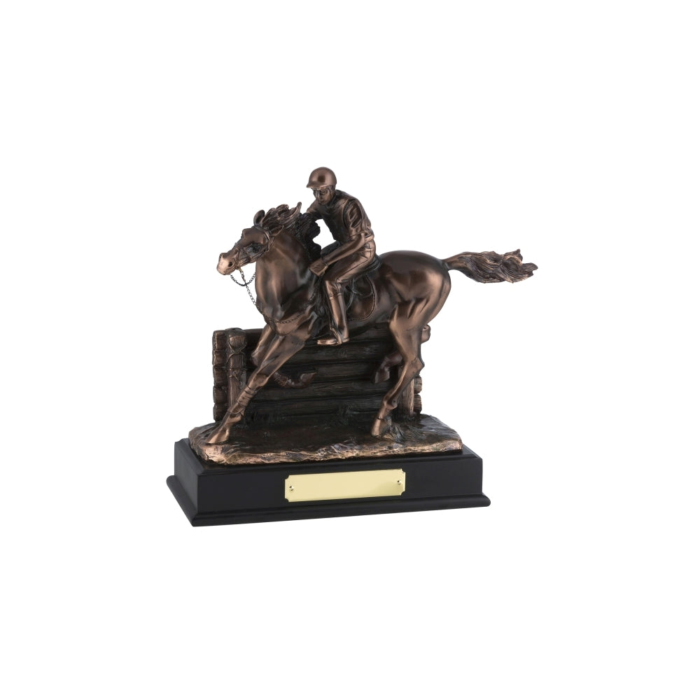 Bronze Plated Horse & Jockey Award - Bracknell Engraving & Trophy Services