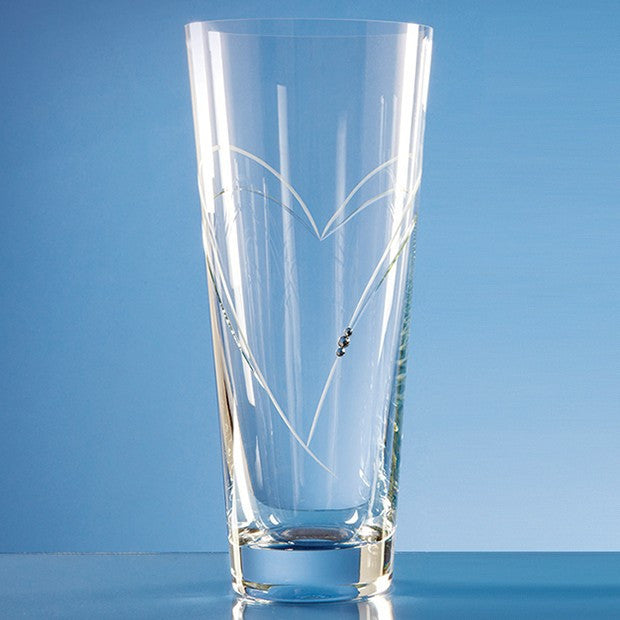 Conical Vase with Heart Shaped Cutting - Bracknell Engraving & Trophy Services