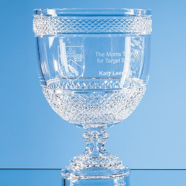 Lead Crystal Footed Presentation Bowl