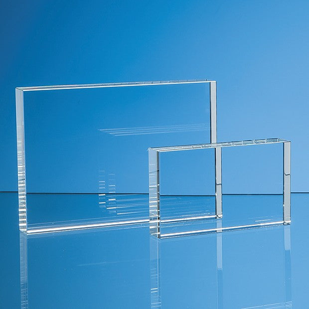 Optical Crystal Rectangle Award - Bracknell Engraving & Trophy Services