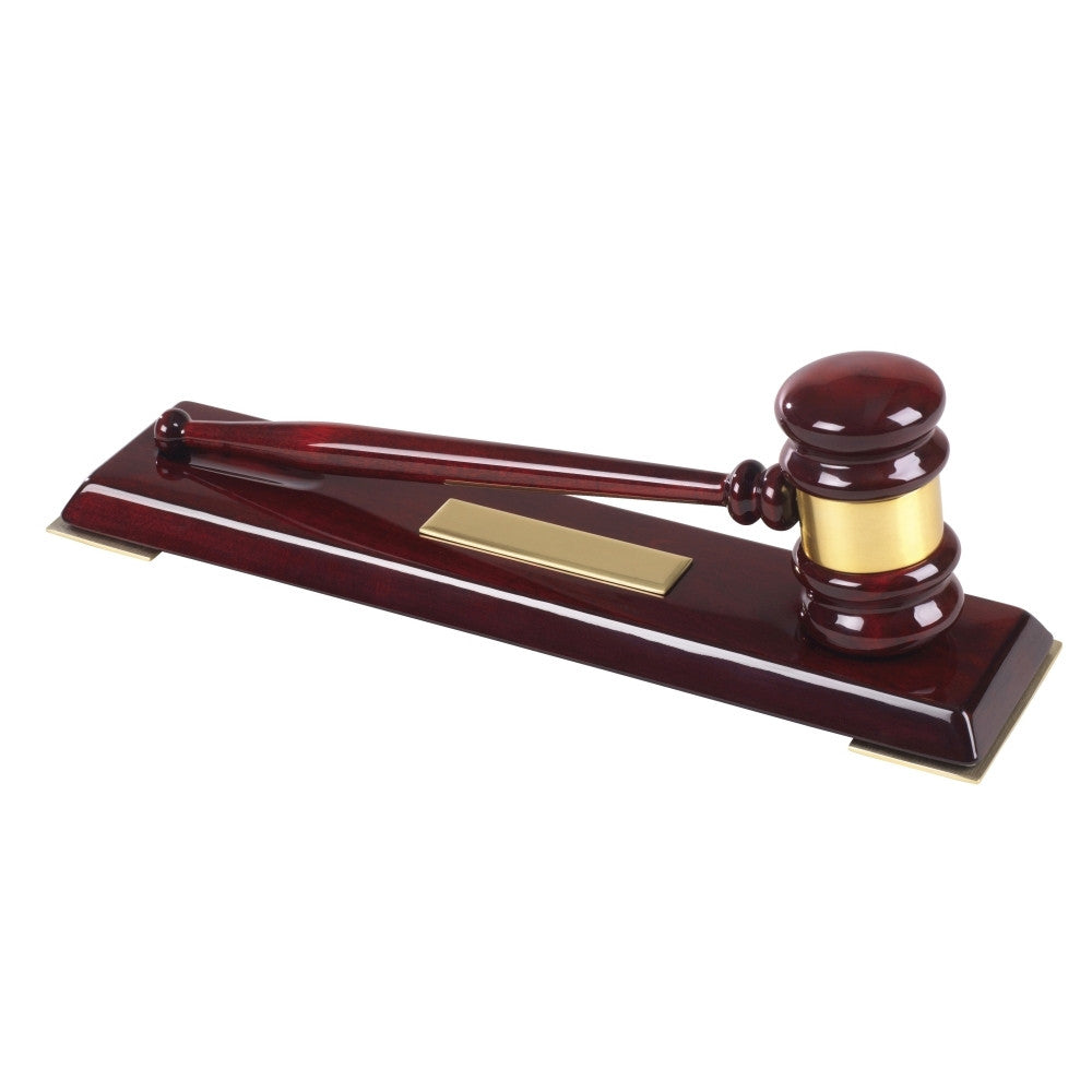 "12"" Wooden Gavel Set"