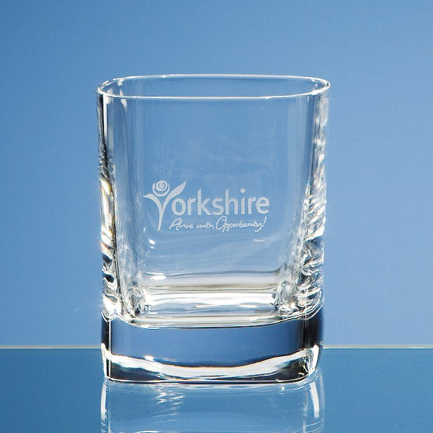 10oz Strauss Square Whisky Tumbler - Bracknell Engraving & Trophy Services