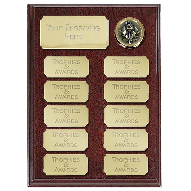 Gold Economy Record Plaque