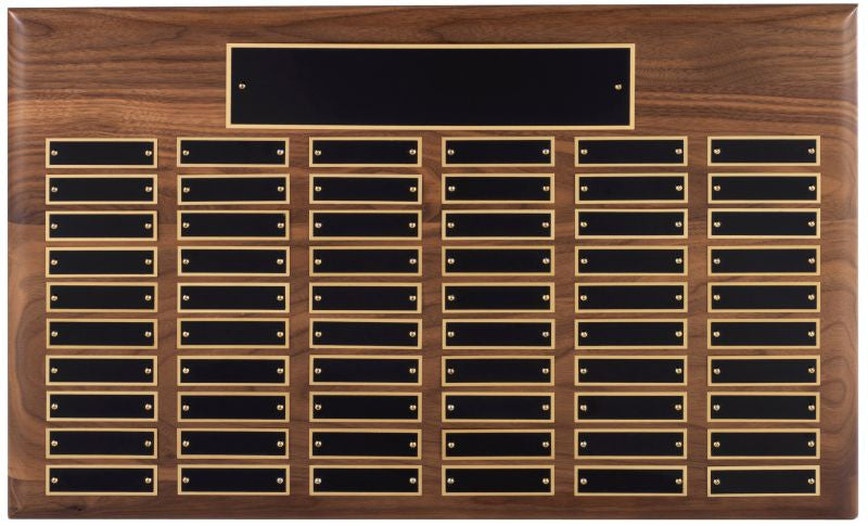 Walnut Annual Plaque - 60 Plates - Bracknell Engraving & Trophy Services