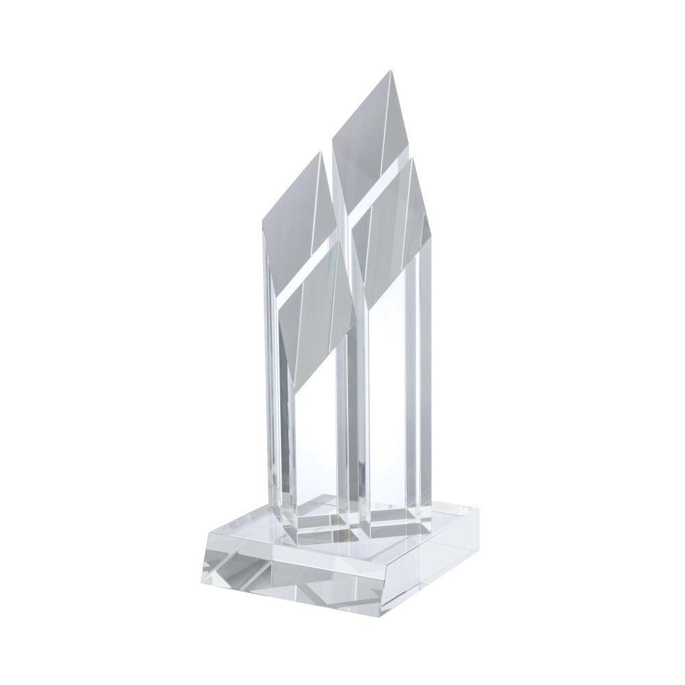 YC012 Clear Optical Crystal Pillar Award - Bracknell Engraving & Trophy Services