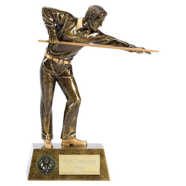 A1381 Snooker/Pool Trophy Figure - Bracknell Engraving & Trophy Services