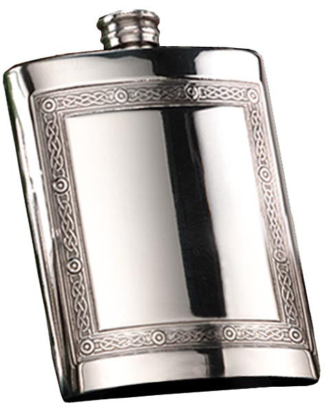 6oz Mull Pewter Hip Flask - Bracknell Engraving & Trophy Services