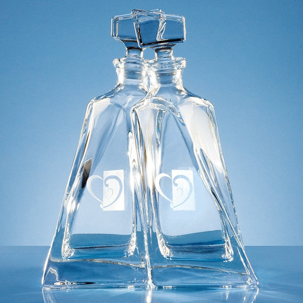 Crystalite Lovers Decanters - Bracknell Engraving & Trophy Services